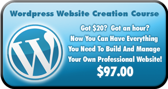 Wordpress Website Creation Course. Got $20? Got an hour? Now you can have everything you need to build and manage your own website. $97