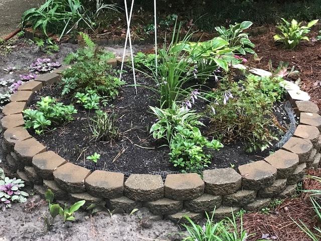 home made rock garden