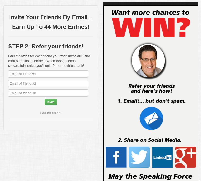 contests landing pages